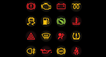 warning dashboard lights